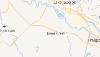 Jones Creek, Texas map