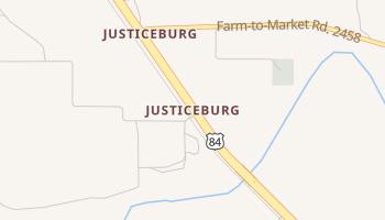 Justiceburg, Texas map