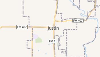 Justin, Texas map