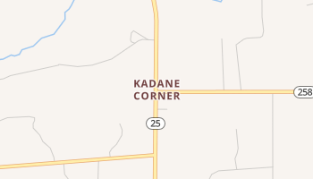 Kadane Corner, Texas map