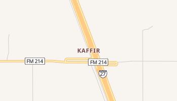 Kaffir, Texas map