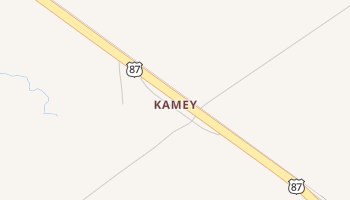 Kamey, Texas map