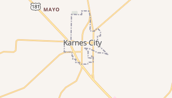 Karnes City, Texas map