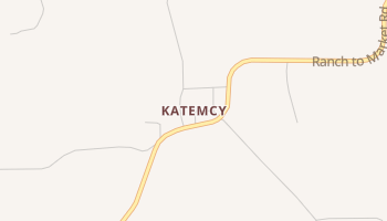 Katemcy, Texas map