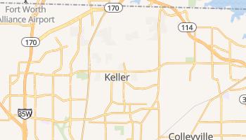 Keller, Texas map