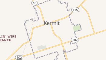 Kermit, Texas map