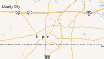 Kilgore, Texas map