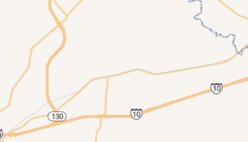 Kingsbury, Texas map
