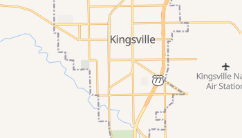 Kingsville, Texas map