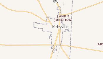 Kirbyville, Texas map