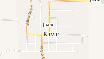Kirvin, Texas map
