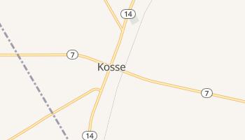 Kosse, Texas map