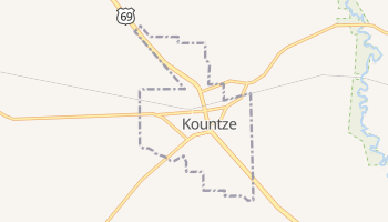 Kountze, Texas map