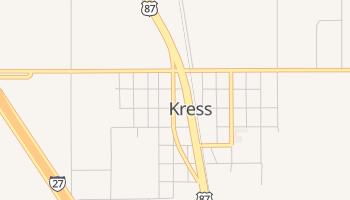 Kress, Texas map