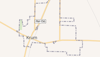 Krum, Texas map