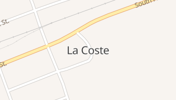 La Coste, Texas map