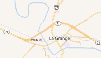 La Grange, Texas map
