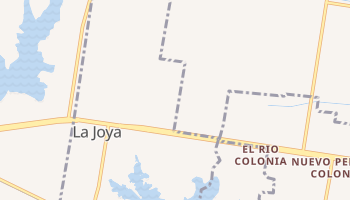 La Joya, Texas map