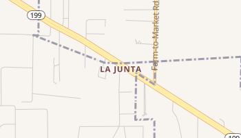La Junta, Texas map
