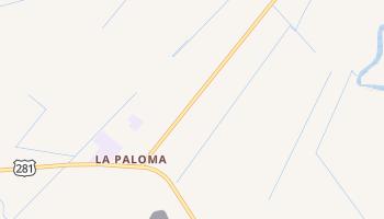 La Paloma, Texas map