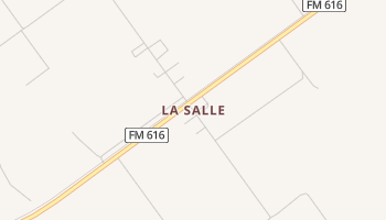 La Salle, Texas map