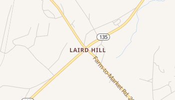 Laird Hill, Texas map