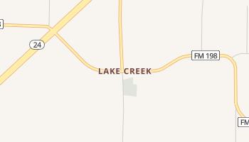 Lake Creek, Texas map