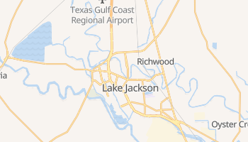 Lake Jackson, Texas map