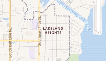 Lakeland Heights, Texas map