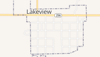 Lakeview, Texas map