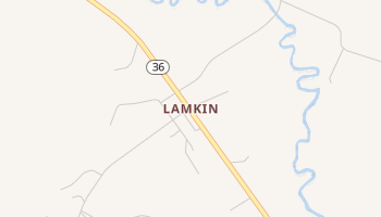 Lamkin, Texas map