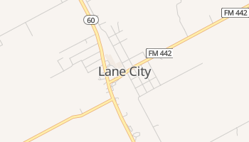 Lane City, Texas map