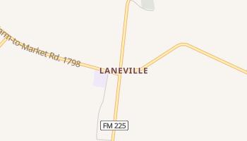 Laneville, Texas map