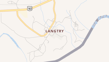 Langtry, Texas map