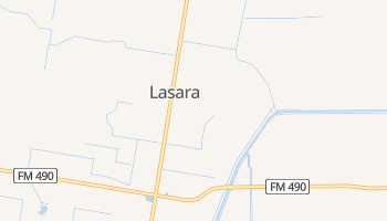 Lasara, Texas map