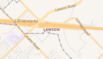Lawson, Texas map