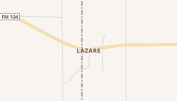 Lazare, Texas map