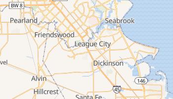 League City, Texas map