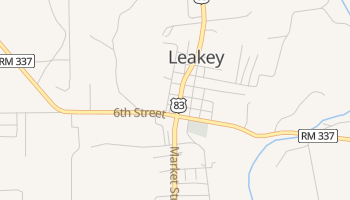 Leakey, Texas map