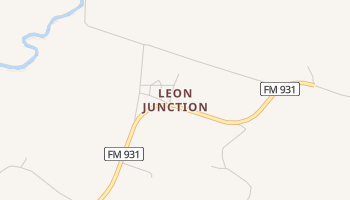 Leon Junction, Texas map