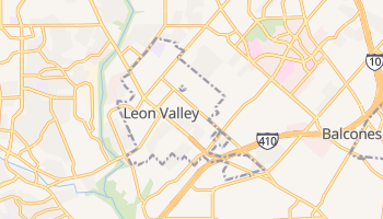 Leon Valley, Texas map