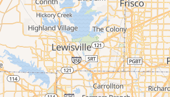 Lewisville, Texas map