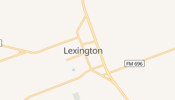 Lexington, Texas map