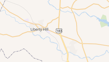 Liberty Hill, Texas map
