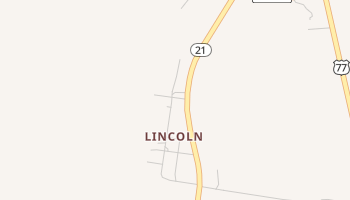 Lincoln, Texas map