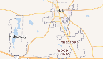 Lindale, Texas map