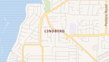 Lindberg, Texas map