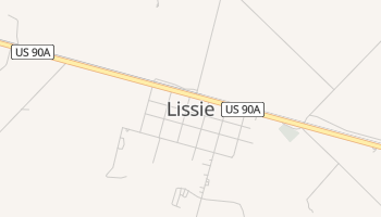 Lissie, Texas map
