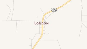 London, Texas map