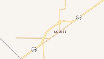 Louise, Texas map